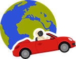 Where Is Roadster- Car and Earth logo
