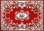 Red Floral Persian Rug