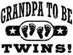 Grandpa To Be Twins t-shirts