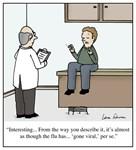 The Flu Going Viral Cartoon