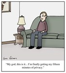 Fifteen Minutes of Privacy Cartoon
