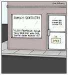 Dentist Office Tooth Fairy Threat Cartoon