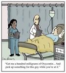 Doctor Prescription Opioids Cartoon