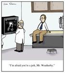 Doctor Diagnoses a Jerk Cartoon