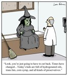 Witch Unhealthy Kids Nutrition Diet Cartoon