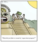 Extreme Organ Donor Aztec Cartoon
