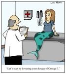 Omega 3 Nutrition Supplements Cartoon