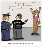Lost or Stolen Property Liability Cartoon