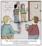 Smoking Organic Cigarettes Cartoon