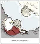 Receipt for the Ten Commandments Moses Cartoon