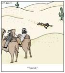 Tourist in the Desert Cartoon