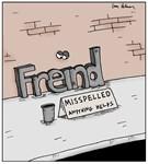 Misspelled Word on the Street Spelling Cartoon
