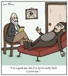 Great Ape Psychiatrist Cartoon