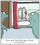 Jesus Fish Jehovah's Witnesses Cartoon
