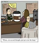 Extremely Large Coffee Cartoon