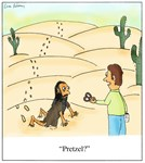 Crawling Through The Desert Pretzel Cartoon