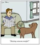 Dog Wearing Air Freshener on Butt Cartoon