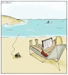 Shark Fishing For a Human Cartoon