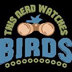 Nerd Bird Watcher Blue