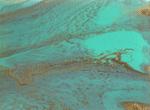 Turquoise Acrylic Pour