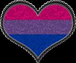 Bisexual Decorative Heart