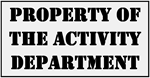 Property of the Activity Department