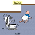 Baby Potty Training Robot