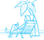 Lounging under the palms