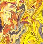 Wild Yellow Madness Liquid Marble