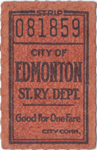 Edmonton Street Railway Ticket Merchandise