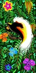 Paradise Bird Fire Feathers
