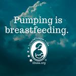 Pumping is breastfeeding