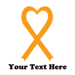 Personalized Orange  Awareness Ribbon