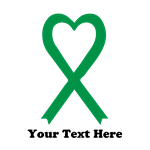 Personalized Green Awareness Ribbon