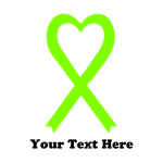 Personalized Lime Green  Awareness Ribbon