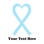 Personalized Light Blue  Awareness Ribbon