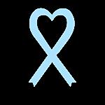Personalized Light Blue  Awareness Ribbon