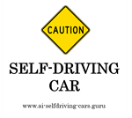 P03-01 Caution Self-Driving Car