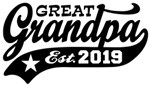 Great Grandpa Est. 2019 t-shirts