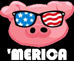 Merica Pig WHT