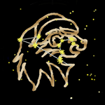 Golden Leo Zodiac Sign