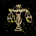 Golden Libra Zodiac Sign