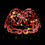 Gemini Bold Red Zodiac Sign