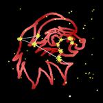 Leo Bold Red Zodiac Sign
