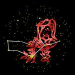 Virgo Bold Red Zodiac Sign