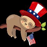 Sleepy Patriotic Sloth