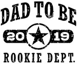 Rookie Dad To Be 2019 t-shirts