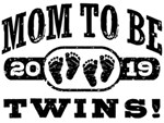 Mom To Be Twins 2019 t-shirts