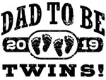 Dad To Be Twins 2019 t-shirts
