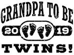 Grandpa To Be Twins 2019 t-shirts